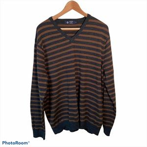 J.Crew Men's Striped Sweater Brown/Gray XL